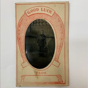 Other - Vintage Man with Suitcase Photograph Paper Frame